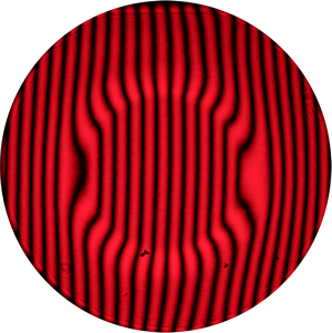 Interferogram of the sheared wavefronts